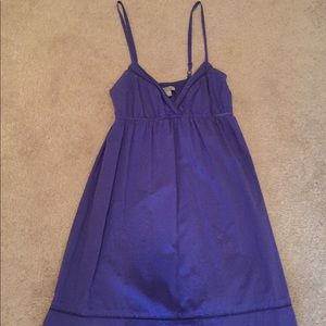 Purple Dress with Lace Accent